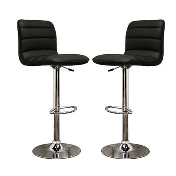 Baxton Studio Lyris Faux Leather Modern Bar Stool Set Of 2 (Black & White)