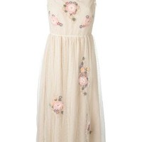 Red Valentino Tulle Flowers Application Dress - Actuel B - Farfetch.com