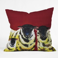 Clara Nilles Lemon Spongecake Sheep Throw Pillow