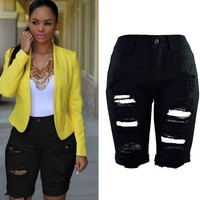Womens Trendy Rip Stylish Denim Shorts