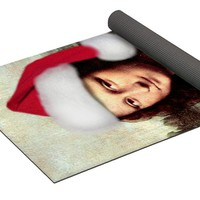 Mona Lisa With Santa Hat Yoga Mat for Sale by Gravityx9 Designs