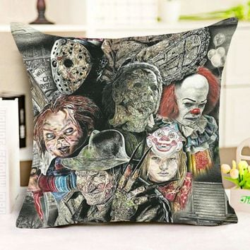 18 Inches Chucky American Horror Story Polyester Throw Pillowcase Home Decor Cushion Cover Pillow Cover