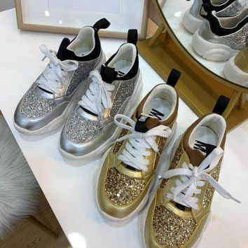 7126f7c2c8f6 Moschino Teddy Run Sneakers With Glitter