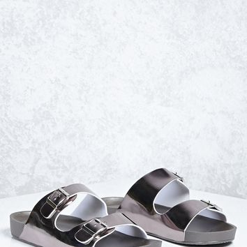 Metallic Buckled Strap Slides