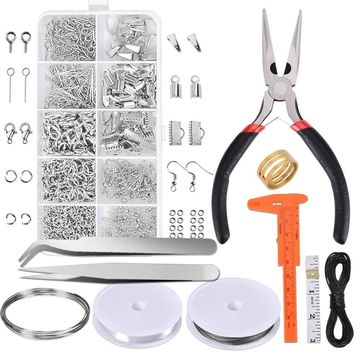 NEW Jewelry Making Supplies Kit-Jewelry Repair Tool with Accessories Jewelry Pliers Jewelry Findings and Beading Wires for Adults  Beginners