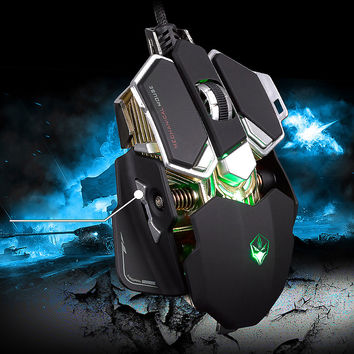 LUOM G10 9 Buttons 4 Colors DPI Adjustable Optical USB Wired Mouse Gamer Professional Macros Gaming Mouse Mice