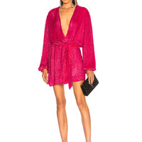 retrofete for FWRD Gabrielle Robe Dress in Metallic Fuchsia | FWRD
