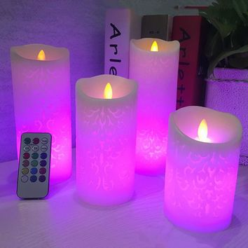 Dancing flame LED Candles with RGB Remote Control