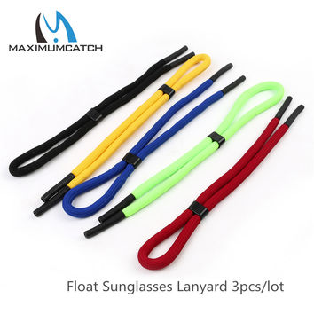 Maximumcatch 3pcs Float Sunglasses Lanyard Light Weaving Thread Neck Cord Multi Color Eyewear Strap Cord Fishing Accessory