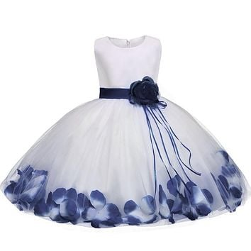 New Dress 2018 Tulle Gray Baby Flower Girl Wedding Dress Fluffy Ball Gown Birthday Evening Prom Clothing Tutu Party Dress