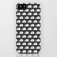 Elephants in love iPhone & iPod Case by ItsJessica