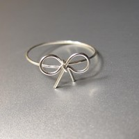 Sterling Silver Bow Ring, Sterling .. on Luulla