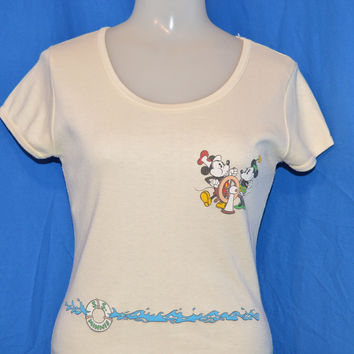 80s Steamboat Willie Mickey Minnie Mouse Disney t-shirt Womens Medium