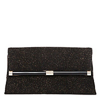 DVF 440 Envelope Diamond Dust Leather Clutch