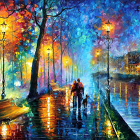 Melody Of The Night - oil painting by Leonid Afremov