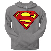 Superman - Shield Logo Heather Pullover Hoodie