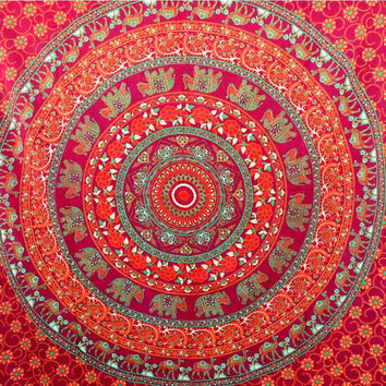 Mandala Tapestries, Indian Tapestry, Hippie Tapestries, Wall Tapestries, Bohemian Tapestries, Medallion Tapestry, Elephant Wall Art Tapestry