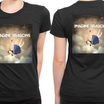 CREYH9S Imagine Dragons Dream Cover 2 Sided Womens T Shirt