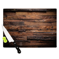 "Susan Sanders ""Espresso Dreams"" Rustic Wood Cutting Board"