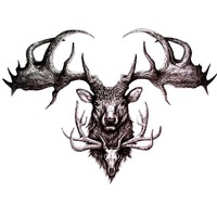3d Waterproof Temporary Tattoos Sticker dead Deer Pattern Temporary Tattoos men tatoo temporary Body Arts Flash Tattoo tatouage