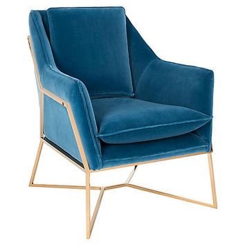 Cruise Club Chair, Royal Blue Velvet - Club Chairs - Chairs - Living Room - Furniture | One Kings Lane