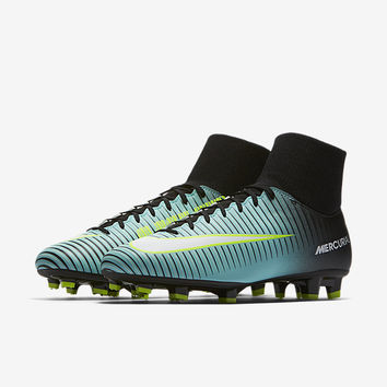 The Nike Mercurial Victory VI Dynamic Fit Women's Firm-Ground Soccer Cleat.