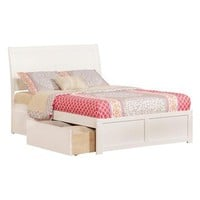 Atlantic Furniture Portland Full FP Footboard With Underbed Drawer x1 White