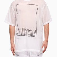 Translucent net tail t-shirt from S/S2016 KTZ Kokon To Zai collection in white