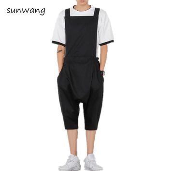 Mens Fashion Designer Brand New Trousers Rompers For Men Drop Crotch Harem Pants Cargo Overalls Casual Mens Pants Jumpsuit