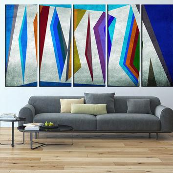 Geometric Wall art Canvas, large wall art print, abstract wall Art, large canvas print, extra large wall art, mid century canvas print t589