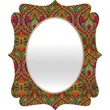Aimee St Hill Ogee Orange Quatrefoil Mirror