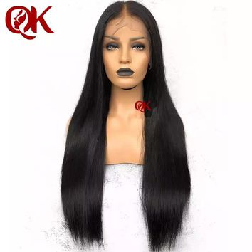 QueenKing Hair PrePlucked Full Lace Wigs with Baby Hair Brazilian Remy Hair