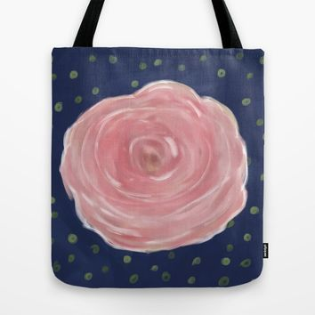 Rose with Confetti, Hand-Illustrated Tote Bag by Yaansoon   Society6