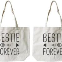 Bestie Forever BFF Canvas Bags
