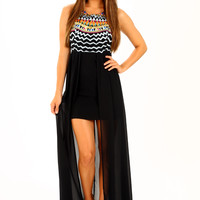The Alyssa Dress: Black/Multi