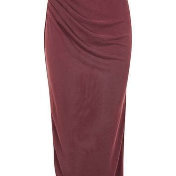 Cupro Drape Midi Skirt - New In This Week - New In