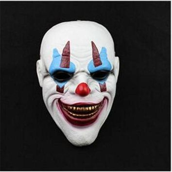 DCCKH6B Top Grade Resin Payday 2 Ashanglife Evil Circus Clown Mask Pennywise Halloween Horror Party Fancy Dress Costume Clown Head Mask