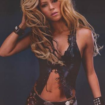 Shakira Leather and Lace 2002 Poster 22x34