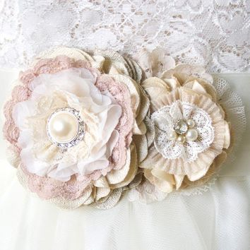 Vintage Blooms Wedding Belt