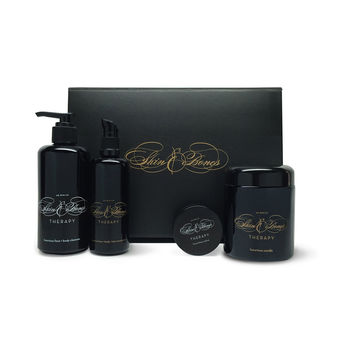 Luxurious gift set - Cleanser, Oil, Salve, Candle by Skin & Bones