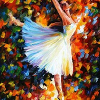 BALLET — Palette knife Oil Painting on Canvas by Leonid Afremov - Size 40x30. 10% discount coupon - deviantart10off