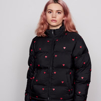 Lazy Oaf Black Romance Puffer Jacket - Everything - Categories - Womens