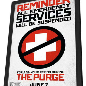 The Purge 27x40 Framed Movie Poster (2013)