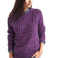 Wavy cable knit sweater | Gap
