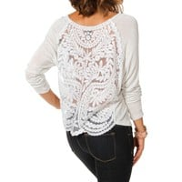 Sale-crochet Back Long Sleeve