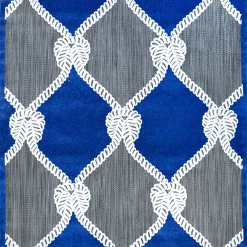 NuLOOM Machine Made Nautical Ropes Outdoor Adrian Rug Blue
