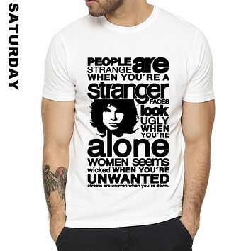Jim Morrison Design Funny T Shirt for Men and Women,Comfortable Breathable Graphic Premium T-Shirt Men's Streewear