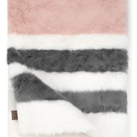 UGG® Royale Surf Stripe Faux Fur Throw Blanket | Nordstrom