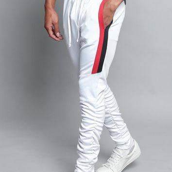 Scrunched Bungee Double Striped Track Pants TR546 - E5D