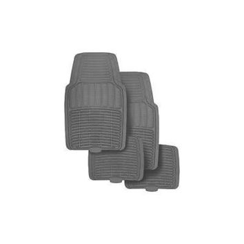 Rubber Floor Mats Gray 4Pk Rubbermaid